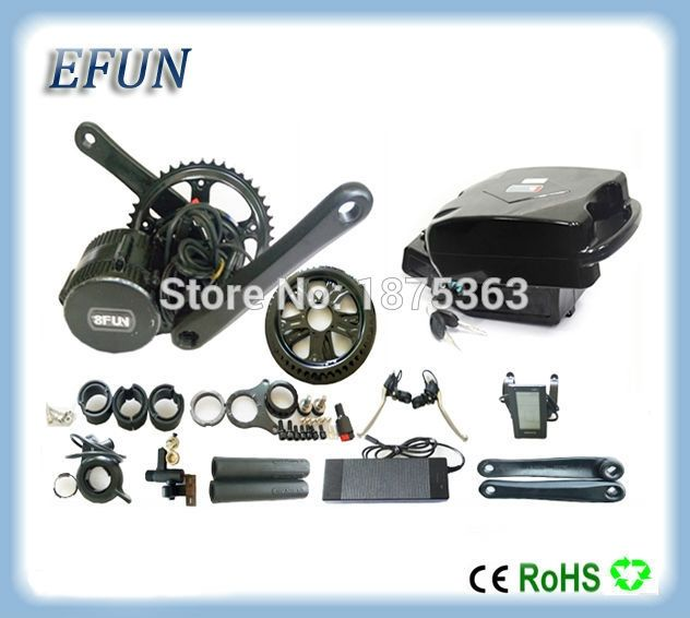 586.55$  Know more  - Electric bike kits 8Fun/Bafang BBS02 36V 500W mid drive motor kits with 36V 16Ah little frog battery for fat tire bike/city bike