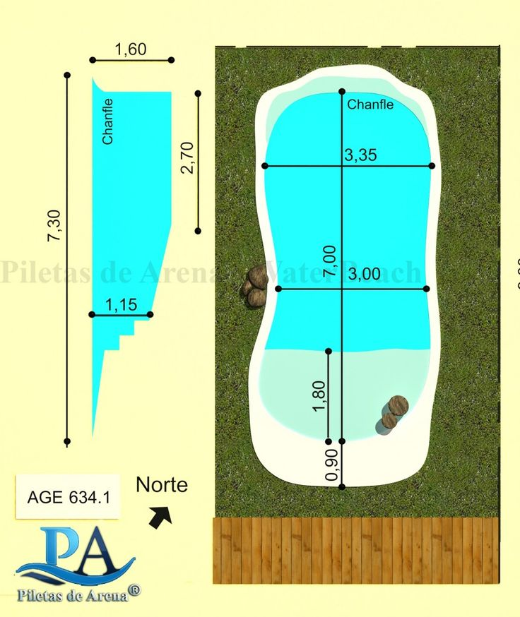 M s de 25 ideas incre bles sobre playas de arena en for Medidas piscina casa