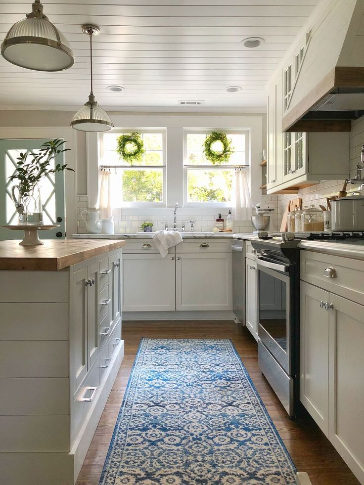 Best White Farmhouse Kitchen With Shiplap Island Tongue And 640 x 480