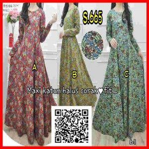 Baju Maxi Dress Motif Bunga Terbaru Murah