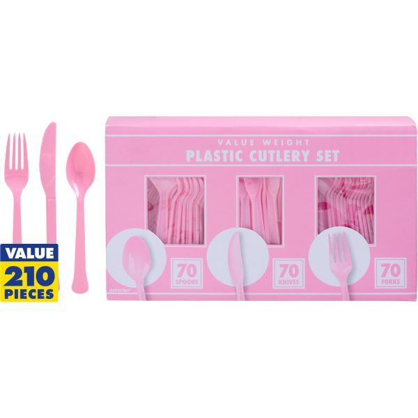 Pink Cutlery Set 210pc (9.99)