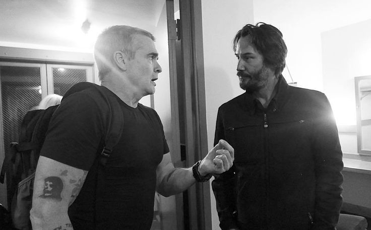 "curtisstage: "" ""Henry Rollins and Keanu Reeves. Orpheum backstage. #broad #emstake1artseries #orpheumtheatre #henryrollins"" by @ericminhswenson on Instagram http://ift.tt/27y78q1 """