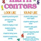 Expectations for behavior during math center rotations. How center work looks and sounds when students are on task....