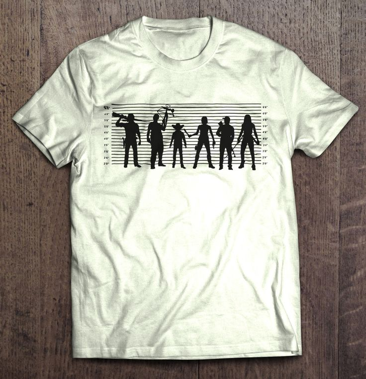 The Walking Dead - The Usual Dead Police Lineup T Shirt