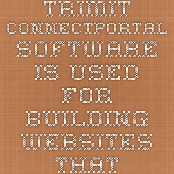 TRIMIT ConnectPortal software is used for building websites that have integration to Microsoft Dynamics NAV or Navision