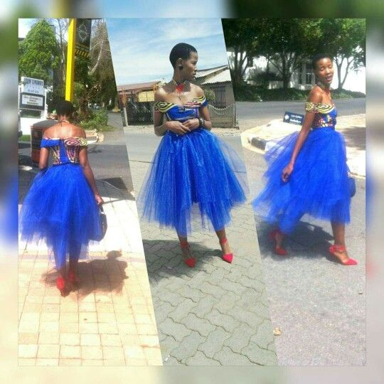 African Print top and tutu skirt, tebbiem creations ...