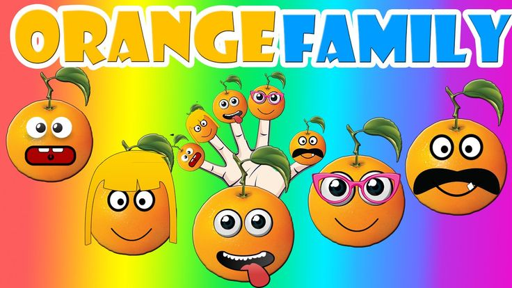 Finger Family Orange Family Nursery Rhyme | Orange Finger Family Songs