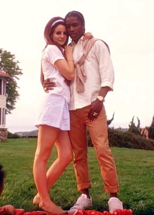 I can't be the only one who thinks that they make a great couple. They actually look REALLY good together in this video. They're a lot alike too, personality wise. Lana Del Rey & ASAP Rocky.