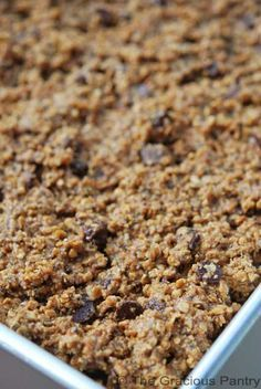 I am going to try this with Carob, because of my Chocolate Allergy.  Clean Eating Cinnamon Chocolate Chip Protein Bars Recipe.
