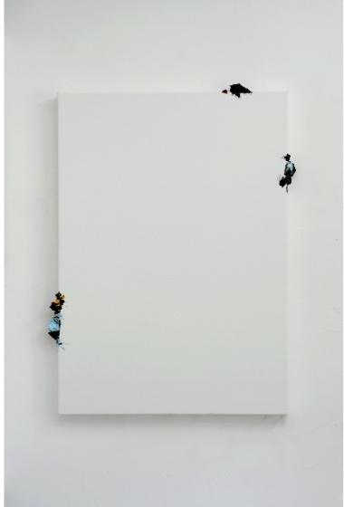Fuoriquadro12, 2009  oil on canvas, cm 143x108x7