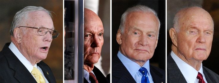 Apollo 11 astronauts, Glenn honored with Congressional Gold Medal. November 2011.