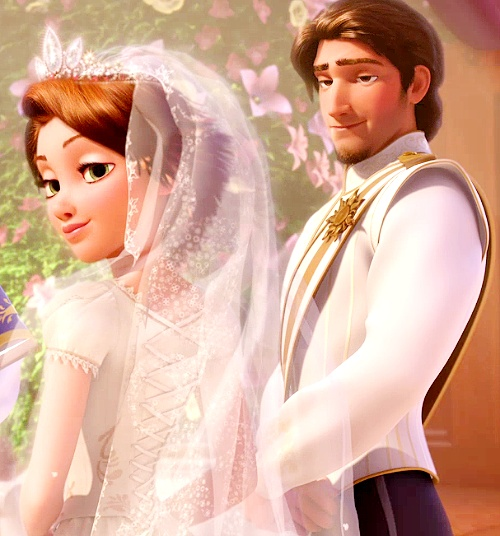 They both kinda have the same facial expressions. It's so cute Tangled ever after. so cute! <3