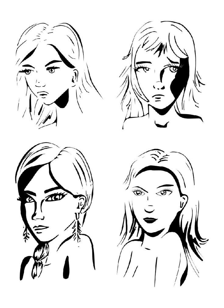 pentekening - bewerkt met inkscape #vrouwen #portret #illustratie #inkttekening #inkt #tattoo #contrast #kunst #grafisch