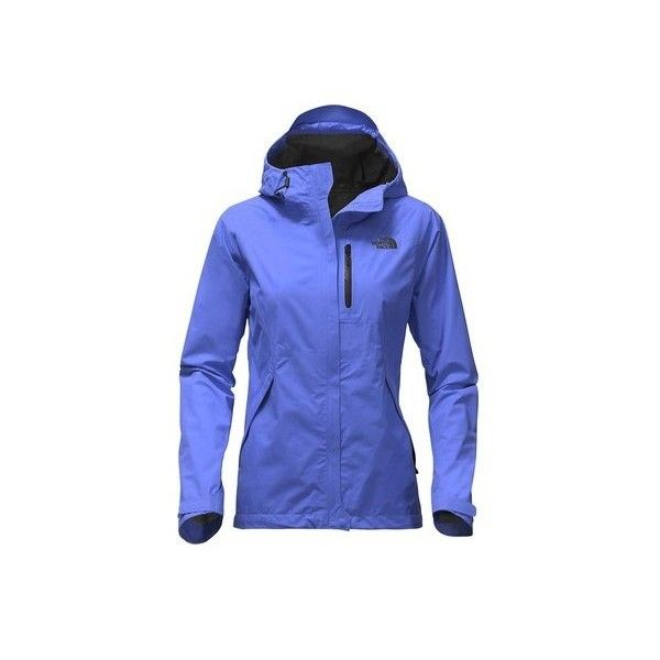 Women's The North Face Dryzzle Jacket ($119) ❤ liked on Polyvore featuring outerwear, jackets, rain jacket, blue rain jacket, the north face, cocktail jackets and the north face jacket