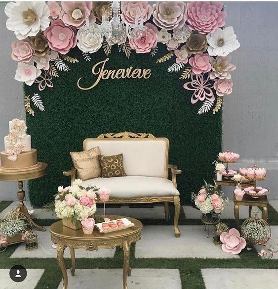 Beautiful Paper Flower Backdrop Wedding Ideas 15 Decoration