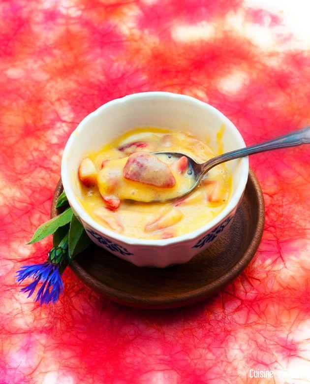 Recette légère : fraises au coulis de mangue