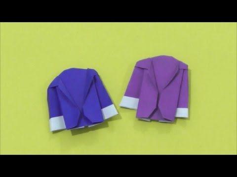 Easy Origami - How to Make Paper Coat / Suit / Jacket 简单手工摺紙 西装外套 簡単折り紙 スーツコートです - YouTube