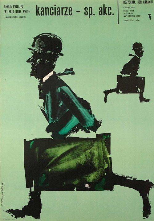 1963 Polish poster for CROOKS ANONYMOUS (Ken Annakin, UK, 1962)    Artist: Marek Freudenreich (b. 1939)