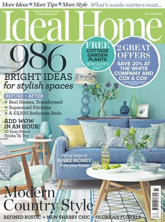 #Ideal Homes is Britain's best-selling home magazine, bringing readers the latest looks for every room, with clever design, spectacular colors, fabulous furniture and buys and expert advice you need to create a beautiful comfortable home.