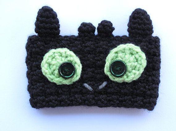 Crochet Toothless Dragon Coffee Cup Cozy by TheEnchantedLadybug