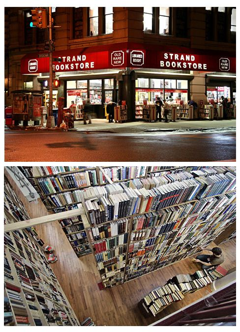 The Strand Bookstore: located at the corner of Broadway and E12th, The Strand has been New York City's legendary home of 18 miles of new, used and rare books since 1927.