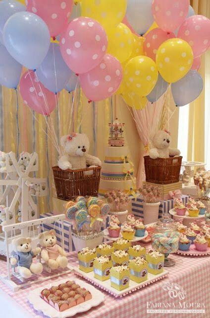 Bears in baskets too cute