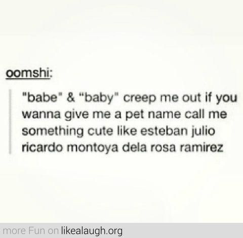 cute names to call someone