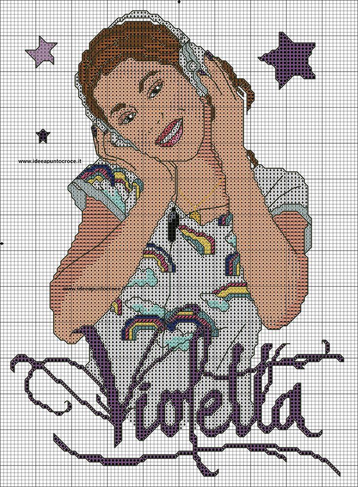 schema Violetta - www.ideeapuntocroce.it