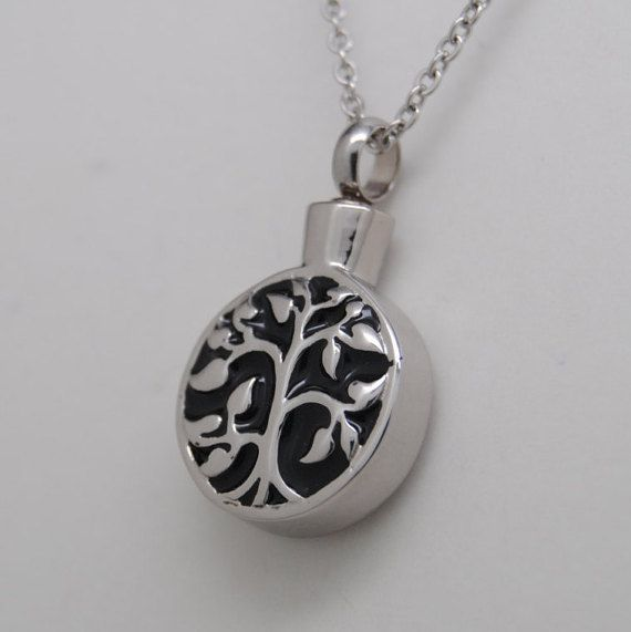 Arbre de vie crémation bijoux urne pendentif collier dacier