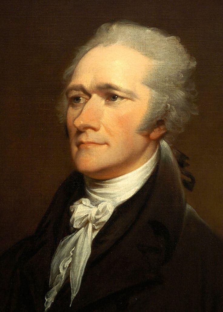 Alexander Hamilton, Born January 12, 1757,Charlestown, Saint Kitts and Nevis , Died July 12, 1804 (aged 49)  New York City, New York - Painting by John Trumbull