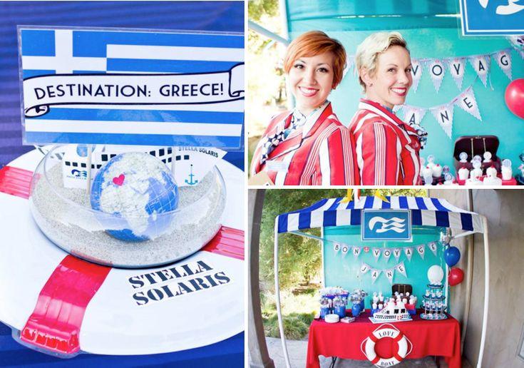 Love Boat, Farewell, Bon Voyage, Goodbye Themed Party via Kara's Party Ideas - www.KarasPartyIdeas.com