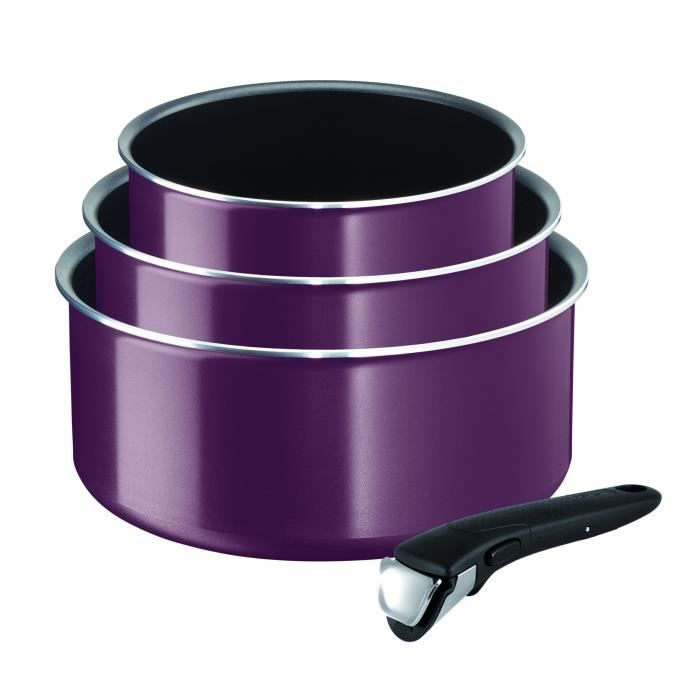 Tefal L2019102 Ingenio Essential Set De 4 Pieces Violet