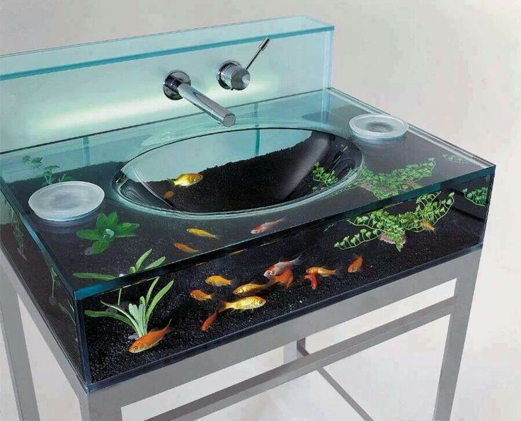 Fishbowl sink... WHAT?!?! Awesome.