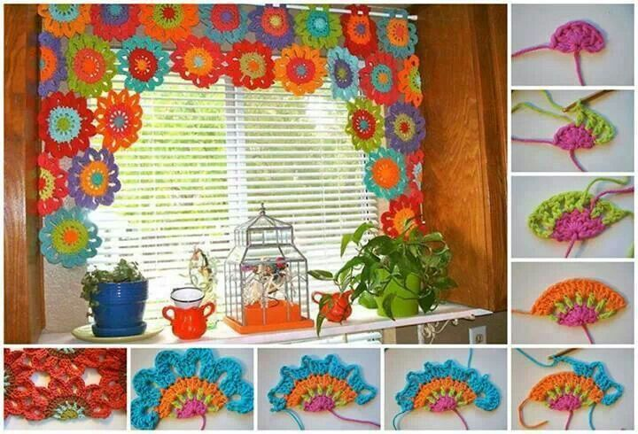 Cortinas para cocina ♥   Crochet ♥   Pinterest   Crochet