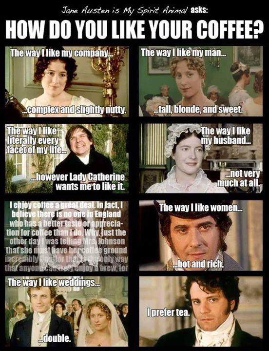 Jane Austen and Coffee
