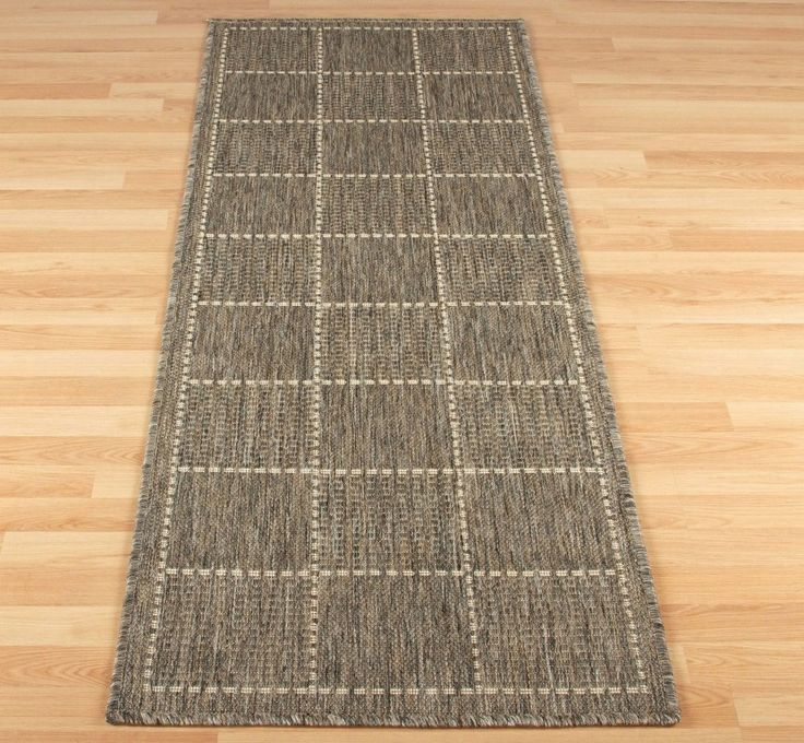 checked flatweave - grey image 1