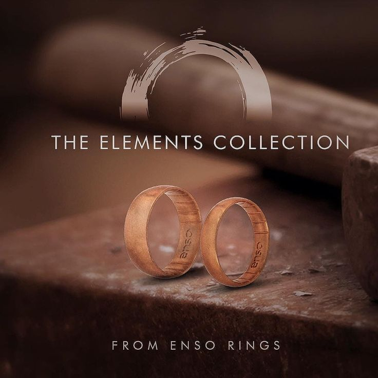 Metal Infused Silicone Rings In 2019 Enso Rings Silicone Rings Wedding Rings For Women