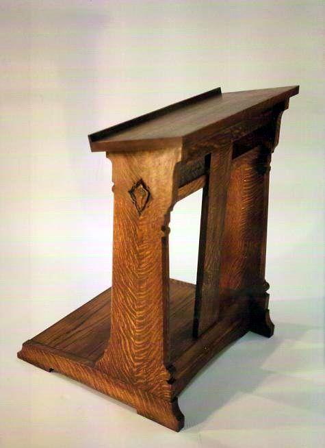 Oak Prie Dieu A Quarter Sawn Carved Oak Prie Dieu Or Kneeling Desk St John 39 S Church Newport