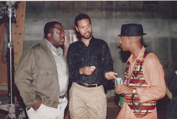 Robin Harris Warrington Hudlin And Martin Lawrence On The Set Of House Party Vintage Black Glamour House Party Celebrity Pictures