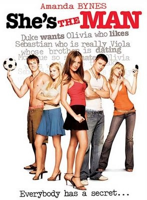 She's the Man - A 2006 American romantic comedy film directed by Andy Fickman, inspired by William Shakespeare's play Twelfth Night. The film stars Amanda Bynes, Channing Tatum, Laura Ramsey, and Vinnie Jones.