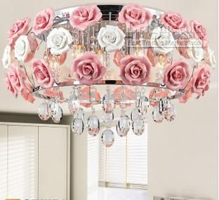 Moderne Led Kristallleuchter Blume Roses Lampenschirm Hängende Lampe Wohnzimmer Dekorative Lustre Von