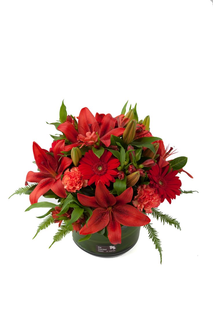 A mix of red flowers, stunning