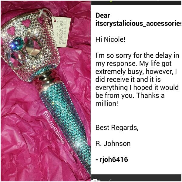 It makes me so happy when customers from all around the world decide to purchase one of my custom made SWAROVSKI® embellished items to make their Wedding day that extra bit Crystalicious®   #amazing #bling #bouquet #holder #atlanta #customers #love #swarovskielements #swarovski #crystals #crystalicious #tussymussy #sparkles #bridetobe #wedding #bridalflowers #weddingdayinspiration #instawedding #ido #lovemyjob #entrepreneur #unique #worldwide #beautiful #weddingdresse #bridesmaids #bride…