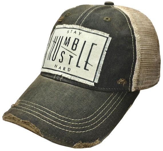 Stay Humble Hustle Hard Distressed Trucker Hat Baseball Hat Etsy In 2021 Womens Trucker Hat Black Trucker Hat Stay Humble Hustle Hard