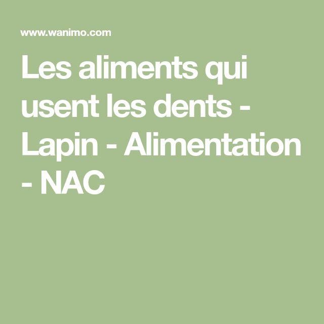 Les aliments qui usent les dents - Lapin - Alimentation - NAC