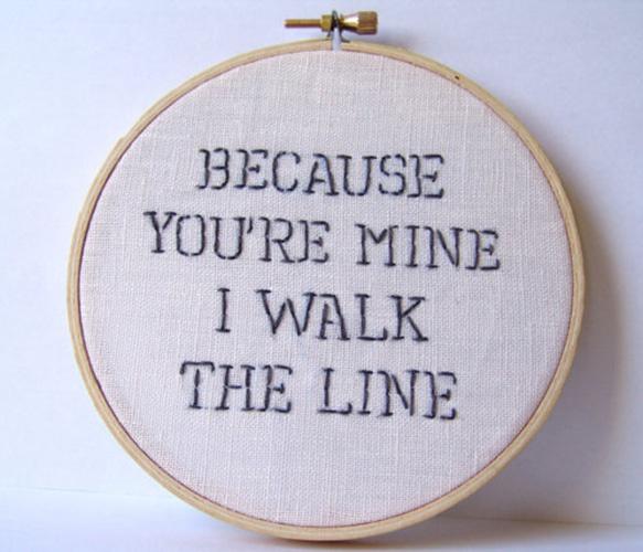 Johnny Cash Hoop Art: Johhni Cash Lyrics, Embroidered Lyrics, Heart Johnny, Crosses Stitches Hoop Art, Crosses Stitches Lyrics, Johnny Cash, Bedrooms, Cash Embroidered, Cash Hoop