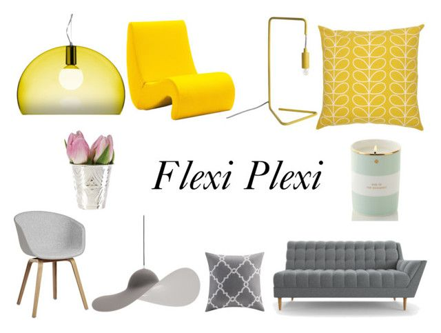 """Flexi Plexi"" by magdishia on Polyvore featuring interior, interiors, interior design, dom, home decor, interior decorating, Vitra, Orla Kiely, Kartell i Joybird Furniture"