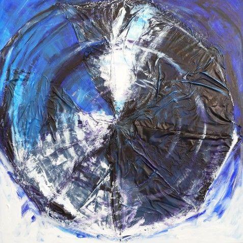 #Brighart verkoopt haar #kunstwerk 'Starwars 31' via KUNSTmarktplaats.nl. #kunst # art #starwars #blauw #bleu #abstract #schilderij #grootformaat #painting