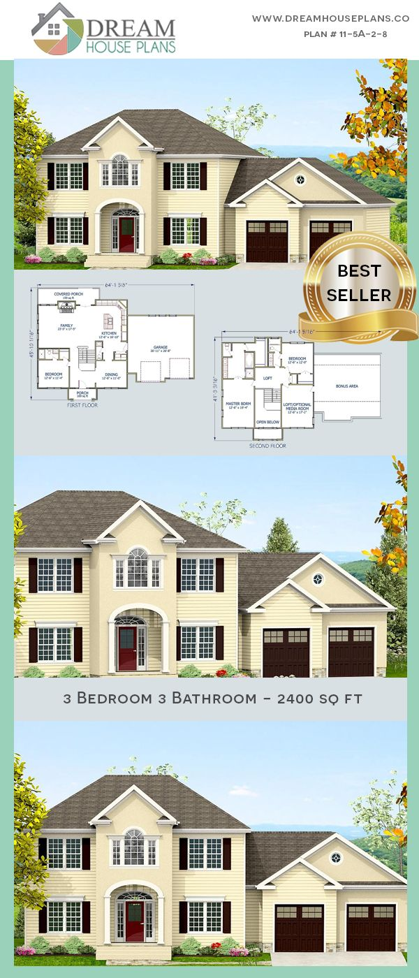 Dream House Plans Affordable Yet Luxury Southern 3 Bedroom 2400 Sq Ft House Plan With Basement We New House Plans Southern House Plans Dream House Plans