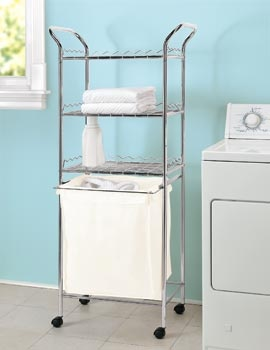 3 Shelf Rolling Laundry Cart Organizes Your Room In A Jif
